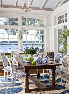 Blue and white coastal living
