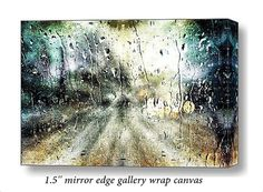 Surreal Moody Rainy Night Abstract Digital Art Large Gallery Wrap Canvas Art FREE SHIP USA