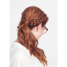 Braided Hairstyles - Stephanie Dodes Braided Updo Hairstyle found on Polyvore