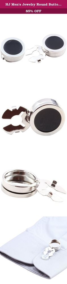 HJ Men's Jewelry Round Button Cover Substitute to Traditional Cuff Links Color Silver Plating. a stylish and unique substitute to traditional cuff links. a sleek and refined look. Silver Finish Warning; Choking Hazard; Small Parts; Not for children under 14 years or for use on children's clothing Arrives in hard-sided, presentation box suitable for gifting. A Perfect Accessory for your Shirt.