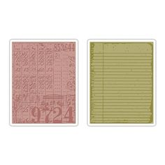 Sizzix Texture Fades Embossing Folders 2PK - Collage & Notebook Set $10.99