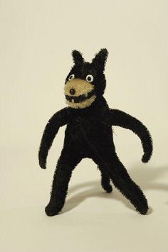 When real men were children, they had toys that looked like this. This is Felix the Cat before he got his movie contract.