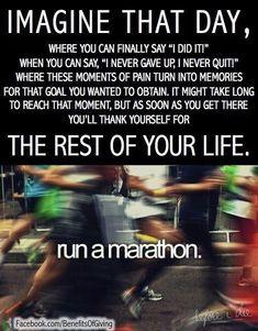 Crush your workout! Run a #marathon!