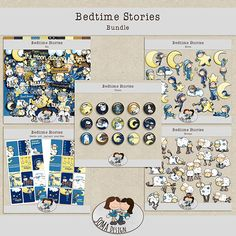 """SoMa Design: Bedtime Stories - Bundle This bundle is an option to buy all of the """"Bedtime Stories"""" products and save money. Bedtime Stories, Digital Scrapbooking, Gallery Wall, Challenges, Learning, Creative, Frame, Fun, Design"""