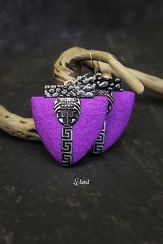 purple Bohemian Earrings Unique gift for Womens Unique Earring Bohemian Jewelry Large Earring Art Deco Earring Artisan Jewelry original gift by Lelandjewelry on Etsy