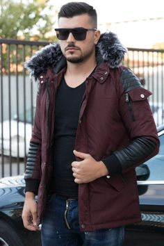 Geaca ABD Bordo Canada Goose Jackets, Fashion Inspiration, Winter Jackets, Men Casual, Book, Fit, Winter Coats, Winter Vest Outfits, Shape