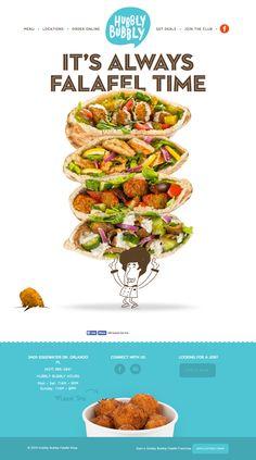 Hubbly Bubbly Falafel Shop Branding by Mark Unger, via Behance