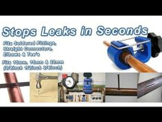 How to Stop a Water Leak on Split Pipes, Soldered Joints and Fittings in Seconds with Leak Mate Water Saving Devices, Builders Merchants, Leaking Pipe, Handyman Projects, Frozen Pipes, Water Company, Plumbing Tools, New Inventions, Water Conservation