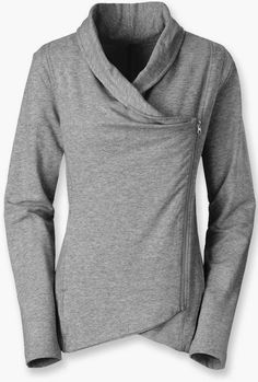 North Face Sharlet Wrap Grey Sweater