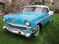 1956 Chevrolet Bel Air Convertible..Re-pin Brought to you by agents at #HouseofInsurance in #EugeneOregon for #LowCostInsurance