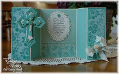 Double Z-Fold, Spellbinders Dies - Floral Ovals, Crosses Two, Moroccan Accents