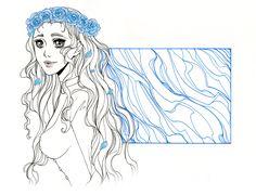 #Lyanna #Stark #Game #of #Thrones #Ice #roses #fanart