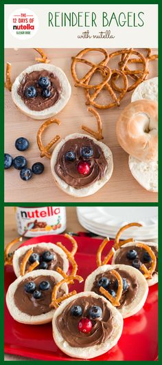 This season, everyone joins in on the bagel-berry reindeer games with Nutella®. Simple to make and delicious to taste—these are definitely a merry must-have.