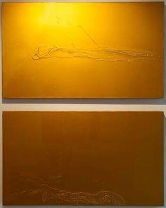 Liberty Battson, Fine Artist, 10,09% of this Canvas is a splat. 70 x 120 cm 2K Automotive paint on Canvas 2013  (Top: Sold) https://www.facebook.com/libertybattson/
