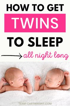 How to sleep train twins in the same room without cry it out. Yes, you can sleep as a twin mom. Get the best twin sleeping arrangements and schedules. Sleep training twins together is possible, and no, you don't need tears. Here is how to get your sleep back. Twin sleeping tips. #twinsleep #twintips #sleeptraining #twinmom #newborntwins Team-Cartwright.com