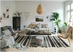 Этностиль создаёт по-настоящему уютную атмосферу в интерьере в скандинавском стиле