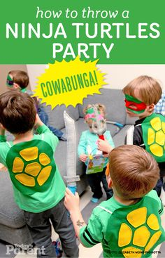 Cowabunga: How to throw a Ninja Turtles party! #ninjaturtles #birthday #parties #zulilybday
