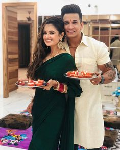 Indian wedding dress - Newly Wed Couple and celebrates their First Diwali after their Wedding Ceremony ❤ privika princenarula yuvikachaudhary postwedding diwalicelebration happydiw Pre Wedding Poses, Wedding Couple Poses Photography, Couple Photoshoot Poses, Pre Wedding Photoshoot, Wedding Ceremony, Bridal Photography, Wedding Couples, Photography Ideas, Indian Designer Outfits