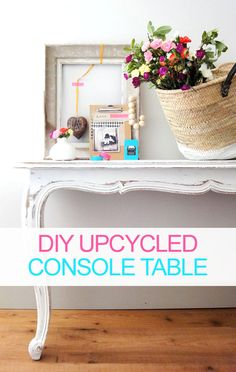 How to turn a dining room table into two console tables  #dining room table #console table #diy