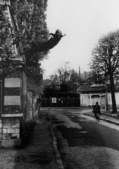 "Yves Klein,1928-1962, French artist,   ""Saut dans le vide (Leap into the Void)"", 1960"