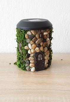 Stone House Solar Lamp DIY TUTORIAL IN VIDEO- https://www.youtube.com/watch?v=fBgjo3VYaHY #gel #stone #solar #lamp #house #light #diy #craft #tutorial #diynikolalexandra