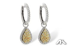 Celebrate her April birthday with gorgeous diamond earrings in white and canary. These are so stunning and will make her feel extra special. Visit our website, www.melodysqualityjewelry.com to find out more information.