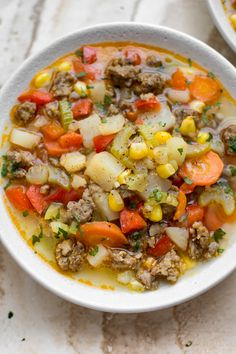 and Vegetable Soup This sausage and vegetable soup is healthy and full of flavor! This is one tasty way to get your veggies.This sausage and vegetable soup is healthy and full of flavor! This is one tasty way to get your veggies. Vegetable Soup Healthy, Vegetable Soup Recipes, Healthy Vegetables, Veggies, Vegetable Potato Soup, Healthy Zucchini, Healthy Chicken, Chicken Recipes, Gourmet Recipes