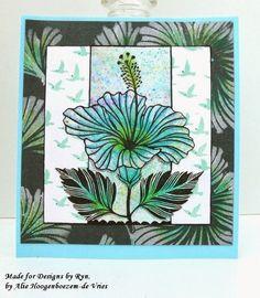 Alie Hoogenboezem-de Vries: Designs by Ryn stamps and stencils and Derwent Ink...