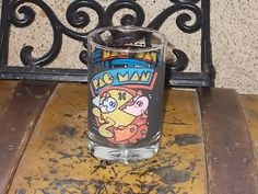 Pac-man Arbys Vtg 1982 Glass Cup Stein Bally Midway /Not Included in Any Coupon Sales /S by Daysgonebytreasures on Etsy
