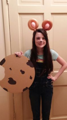 """Mouse ears headband for """"If You Give a Mouse a Cookie"""" costume."""