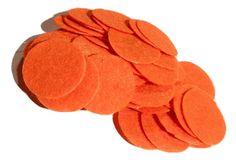 """1"""" orange felt circles / 25-50 pieces"""