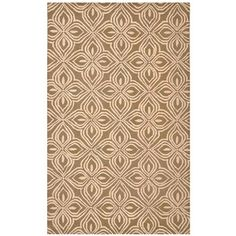 Hand-tufted Brown/ Pink Polyester Rug (8' x 10')