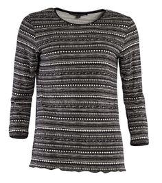 """Frühjahrskollektion 2014 - Mode aus Schweden in ihrer schönsten Form - Shirt """"Digitalis"""". Das schwarze Shirt ist wundervoll gemustert und bietet hohen Tragekomfort."""