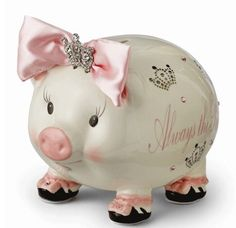 Always The Princess Large Piggy Bank by Mud Pie™(Personalization available) :: For That Occasion