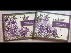 Crafty Projects, Diy Projects To Try, Birthday Card Design, Birthday Cards, Design Cards, Friendship Cards, Butterfly Flowers, Hydrangeas, Wisteria
