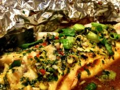 Thai style baked fish - From our kitchen