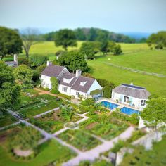 """Little Oak Spring"" is nestled in a beautiful corner of the Virginia Piedmont and was designed for Bunny Mellon, an avid Francophile, to resemble a rustic French country village. During OSGF's startup period, we are investing heavily in the maintenance and preservation of the historic Oak Spring estate, including the Mellon home, gardens and landscape. . #tiltshift #rustic #historic #Virginia #country #oakspring #oakspringgardenfoundation #drone #garden"