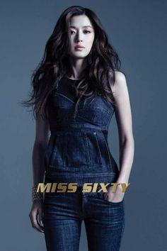 Miss Sixty Fall 14 - Jun Ji Hyun 全智賢 #sexy #glam #magic #denim #advertising #campaign #fw14