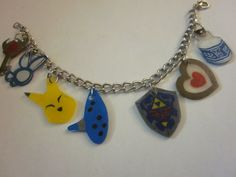 Legend of Zelda Items Charm Bracelet. $15.00, via Etsy.
