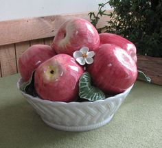 Apple Bowl Marshall Fields Apple Bowl Centerpiece by LazyYVintage