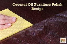 Looking for an easy to find, easy to use, and super frugal natural furniture polish recipe? Look no further than coconut oil furniture polish! From HybridRastaMama.com