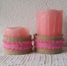 I love upcycling - Blechdosen als Kerzenhalter für Echtwachskerzen mit Led