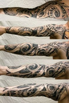 biomechanik tattoo motive arm
