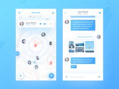 Map Chat App by Vadim Gromov - Dribbble