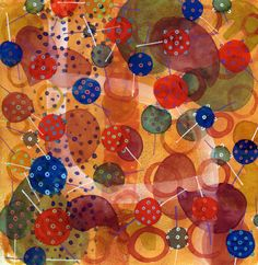 """The Old Cells Studio - Michèle Brown Art: Wednesday watercolours """"Neurons having a party"""""""