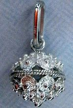 Sterling Silver 3g Full Ball Botuni Pendant ~ Imported From Croatia
