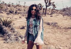 Perfect for festival season, LF Stores' newest collection comes to you with washed denim, off-the-shoulder tops, and bell-sleeved beauties. Desert Fashion, Boho Life, Festival Fashion, Festival Style, What's Your Style, Fashion Details, Fashion Trends, Outfit Goals, Kimono Top