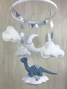Baby mobile – dinosaur mobile – gender neutral – sleeping moon mobile – cloud mobile – star mobile – dinosaur nursery – hoop mobile – – Keep up with the times.