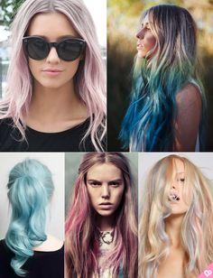 colored hair, candy hair, cabelo colorido, cabelo rosa, cabelo lilás, purplehair, pink hair, pastel hair, blue hair, cabelo azul, green hair, cabelo verde