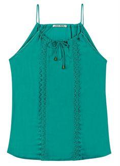 Blusa de Viscose Verde Doce Trama - Posthaus